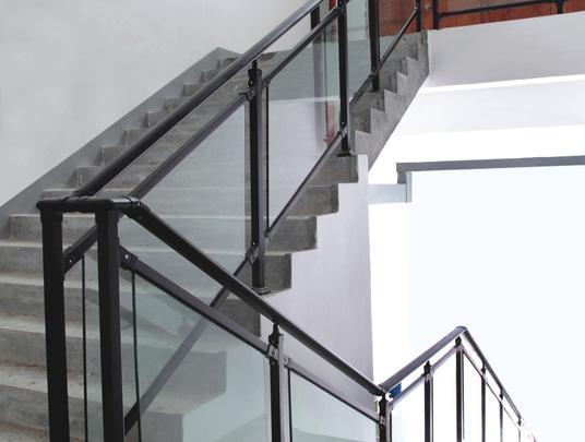 锌钢玻璃扶手