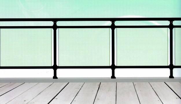 锌钢玻璃栏杆